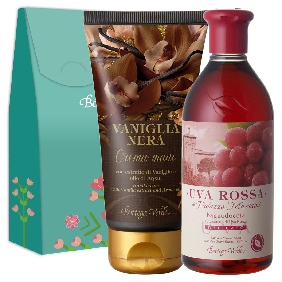 Pachet Special - Gel dus struguri rosii si crema de maini vanilie neagra