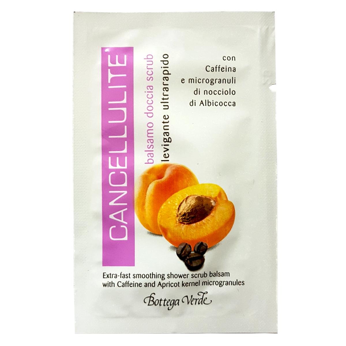 Mostra - Gel de dus balsam - scrub cu extract de cofeina si microgranule din samburi de caise