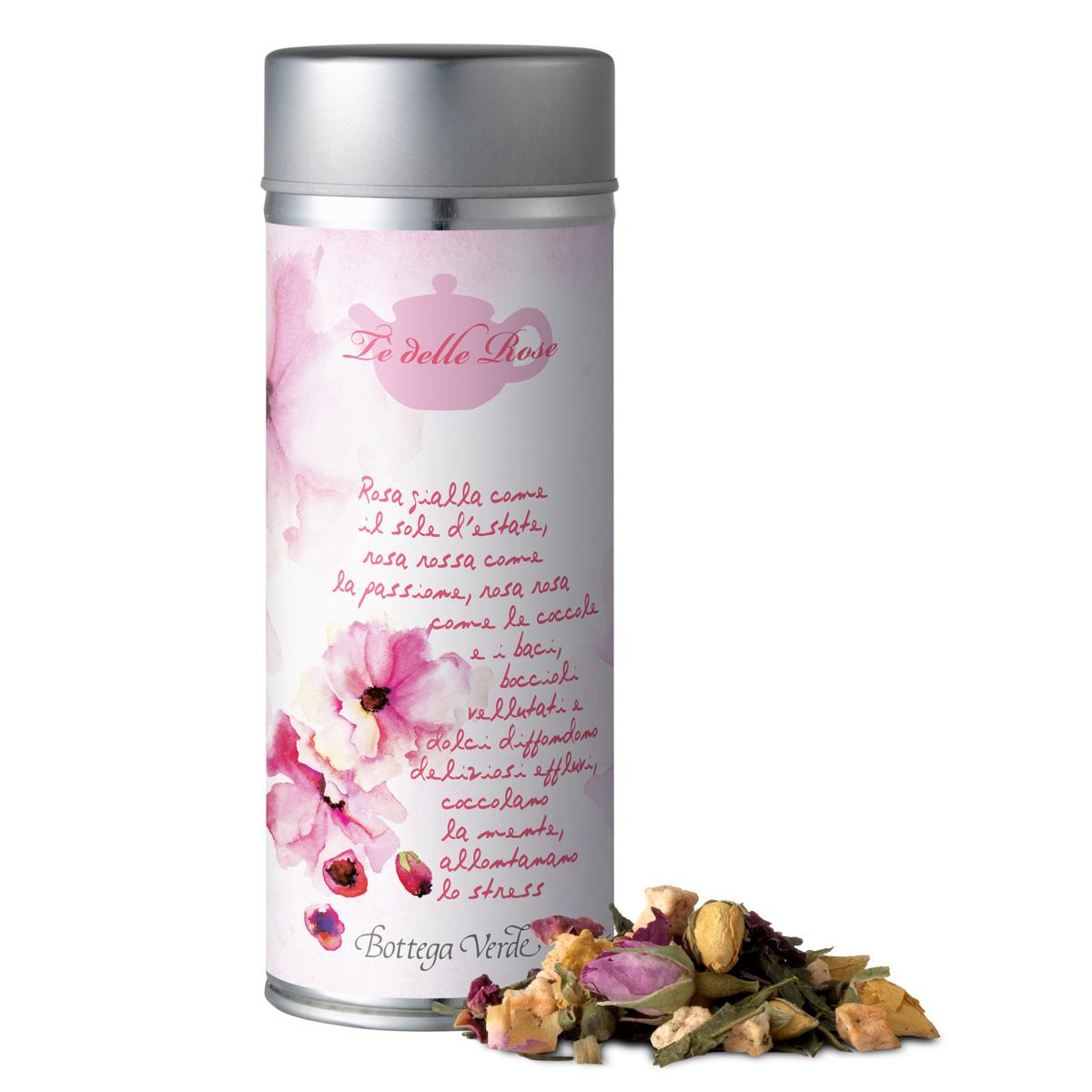 Ceai verde cu petale de trandafir