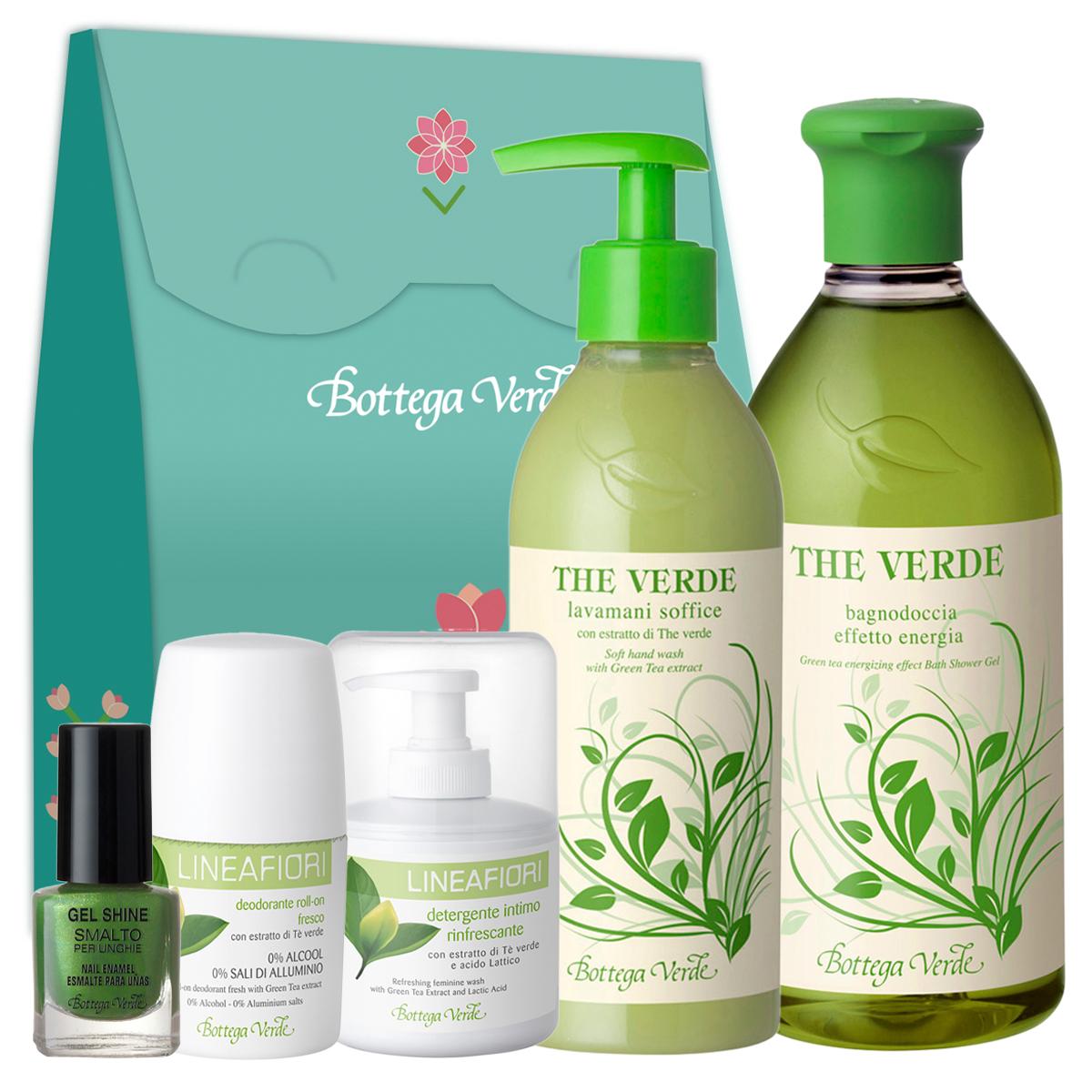Set Ceai Verde - The Verde, 400 ML + 250 ML + 5 ML + 200 ML + 50 ML