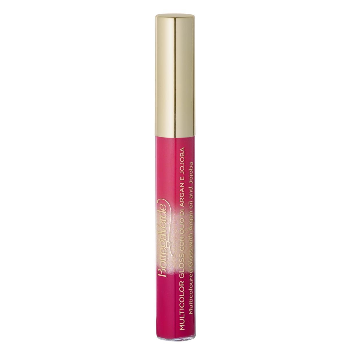 Luciu de buze multicolor cu extract de jojoba si ulei de argan, rosu capsuna, 6.5 ML