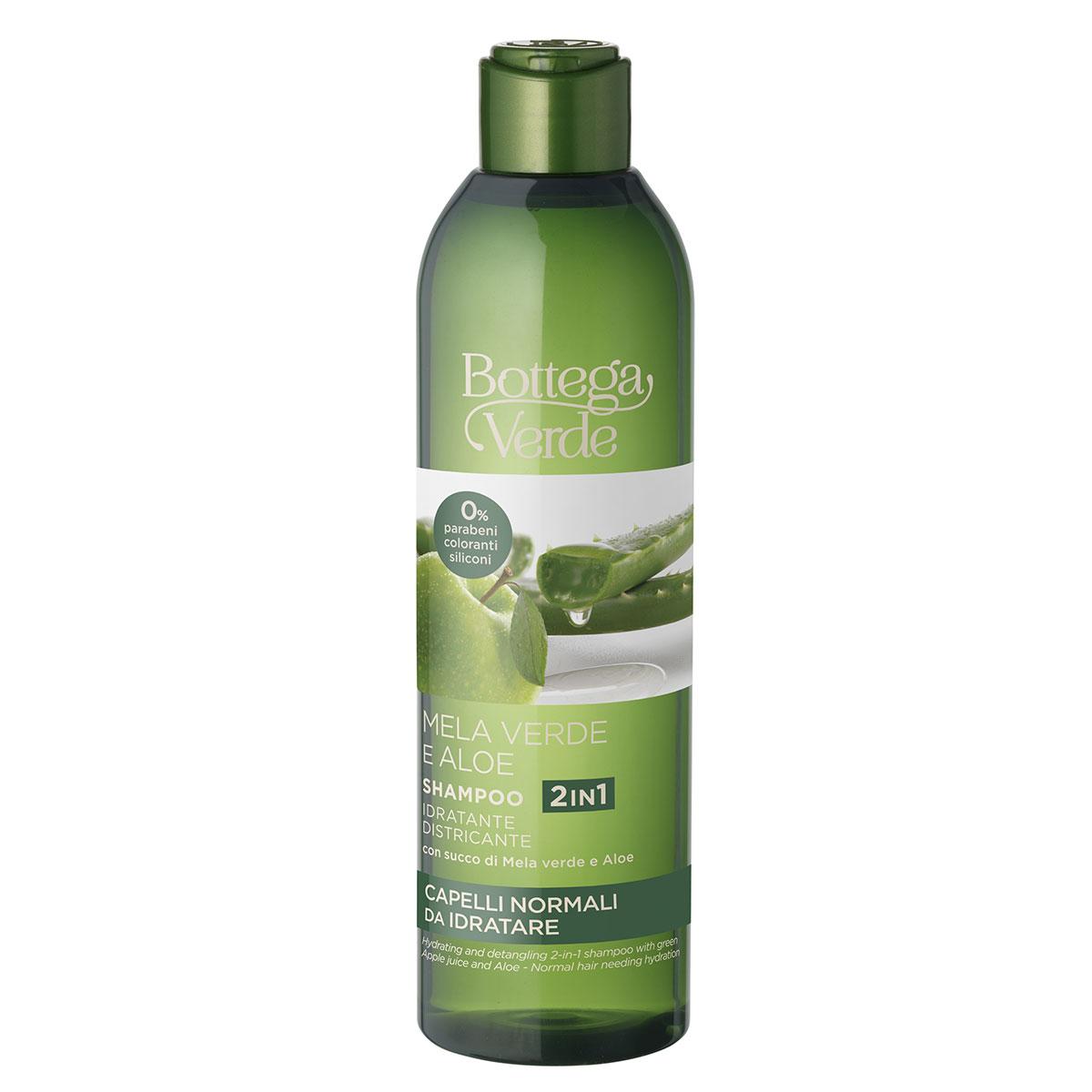 Sampon hidratant cu aloe si mar verde, 250 ML