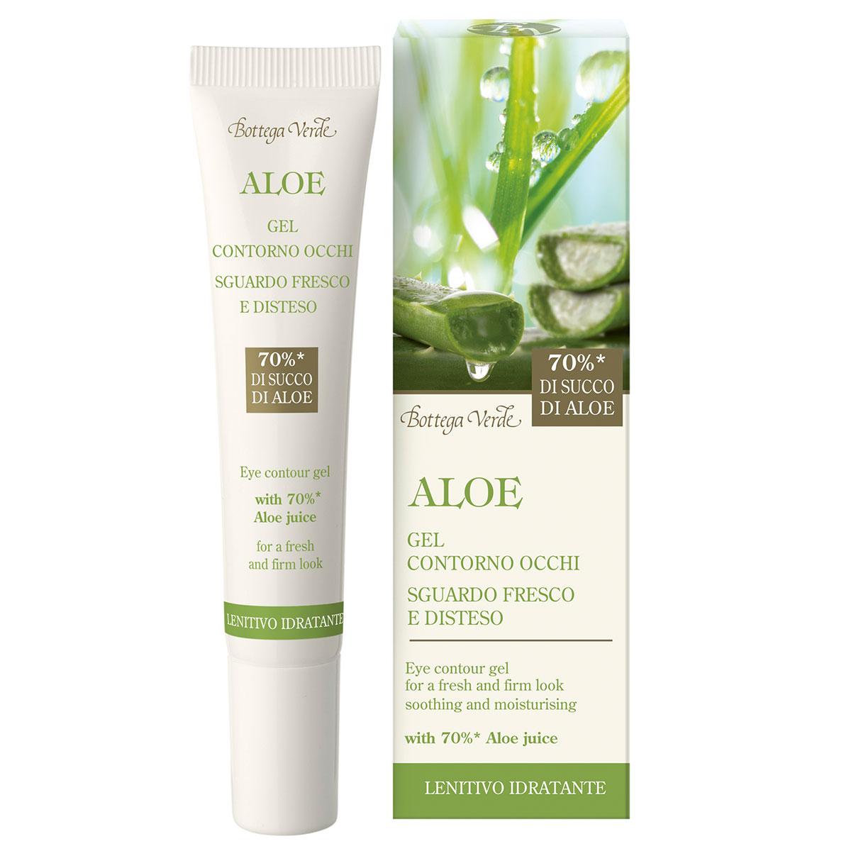 Gel pentru zona din jurul ochilor cu extract de aloe vera - Aloe, 15 ML