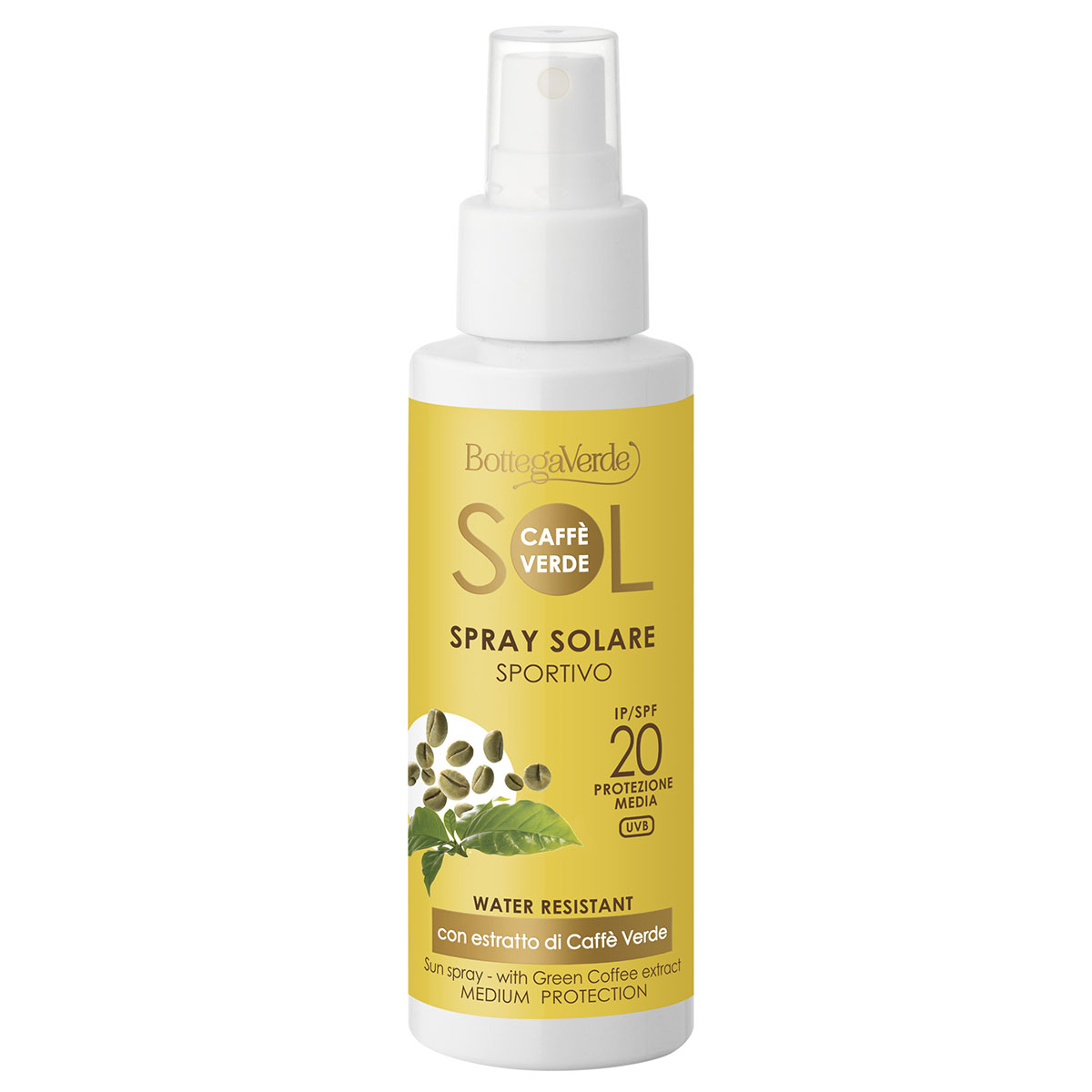 Spray de corp cu extract de Caffe Verde - Caffè Verde, 100 ML