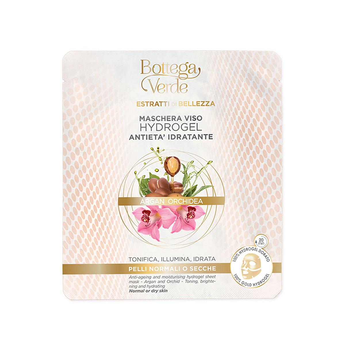 Masca Hydrogel hidratanta, anti-imbatraniere, pentru ten uscat si normal, cu extract de orhidee si ulei de argan imagine