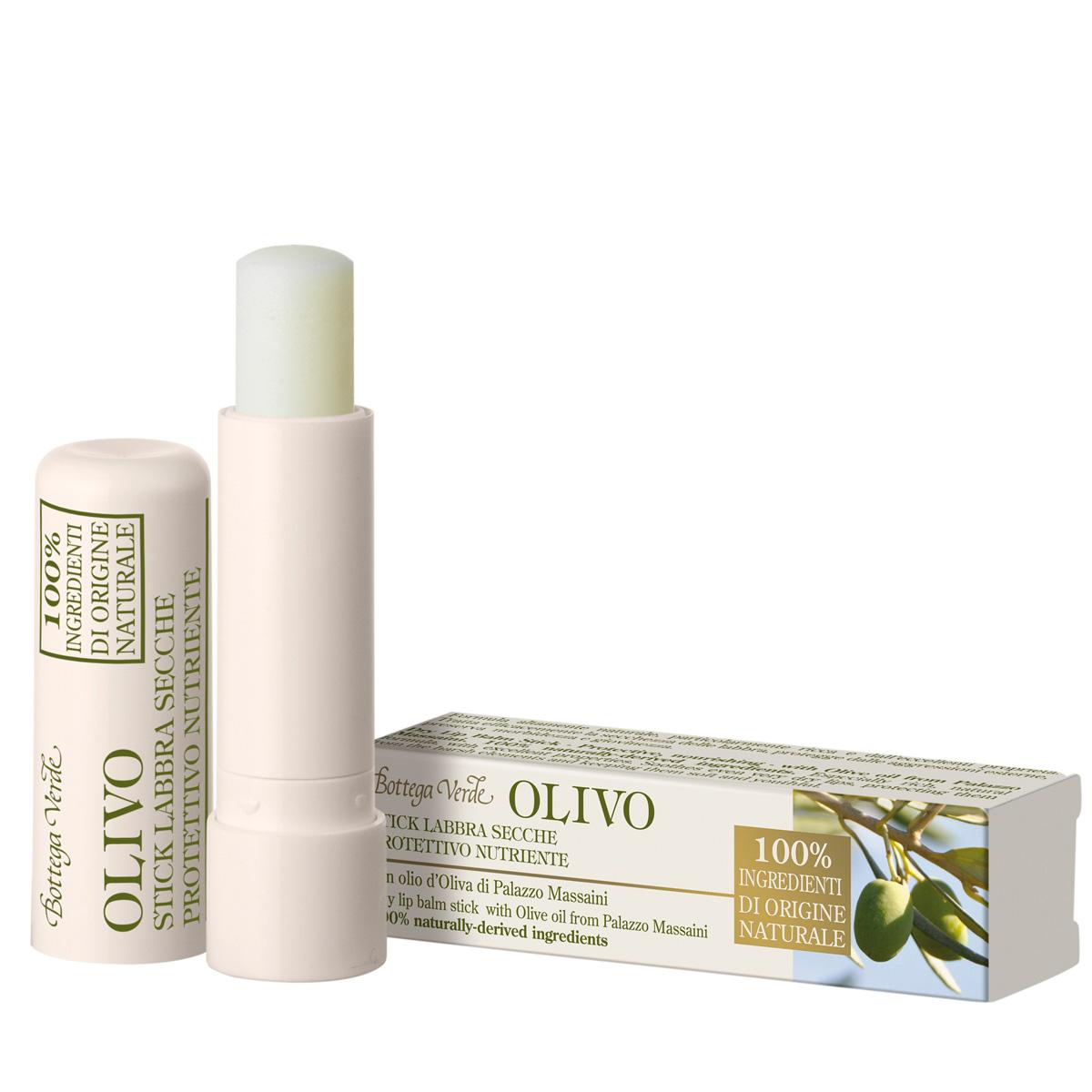 Balsam pentru buze uscate cu ulei de masline de la Palazzo Massaini, incolor - Olivo, 5 ML
