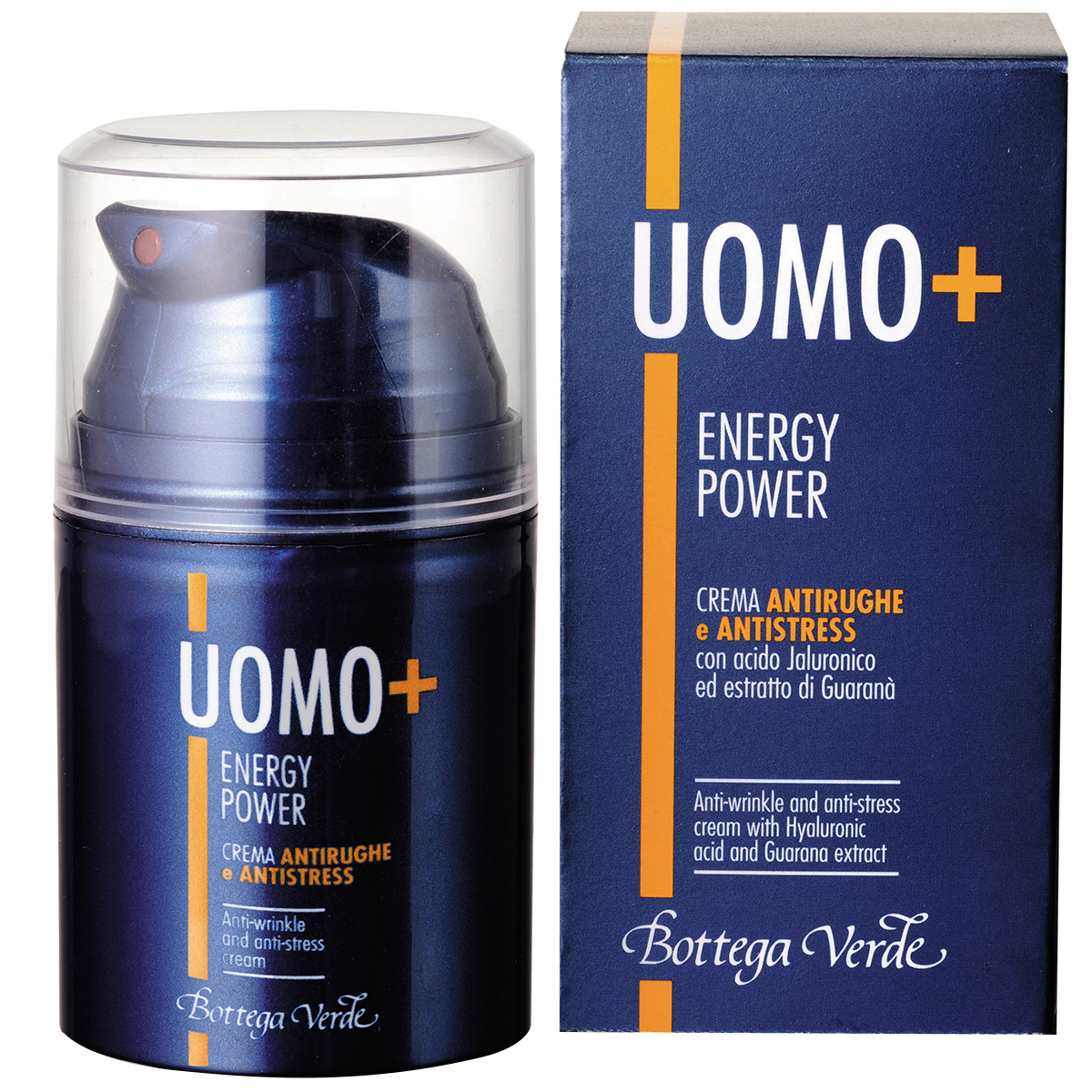 UOMO + Energy Power - Crema antirid si anti-stres, cu acid hialuronic si extract de guarana