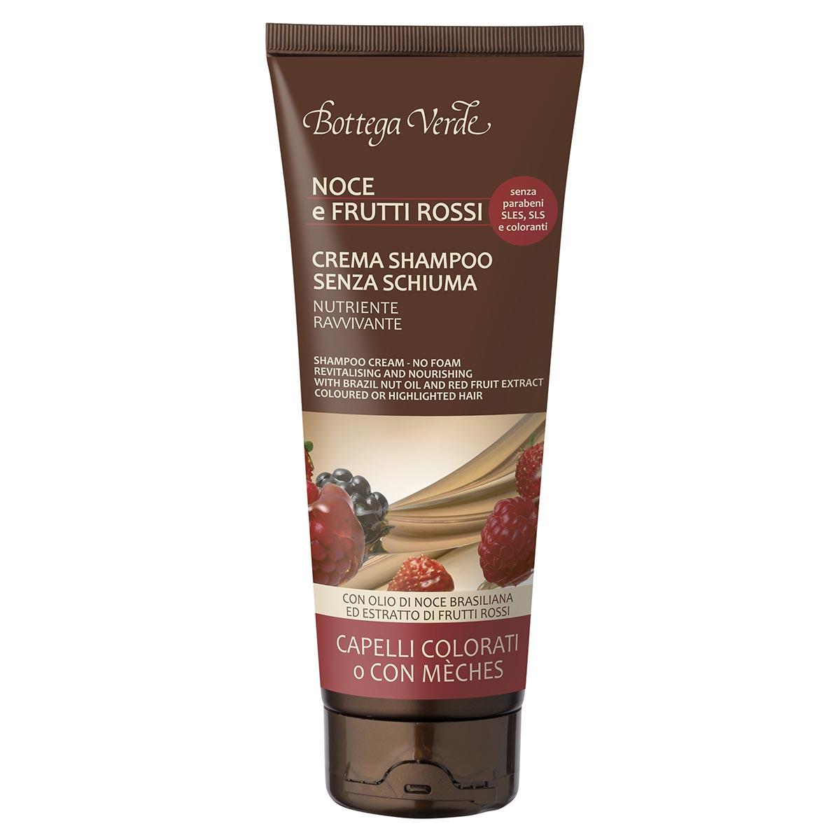 Sampon-crema fara spuma cu ulei de nuci braziliene si extract de fructe rosii - Olio di Nocce e Frutti Rossi, 200 ML