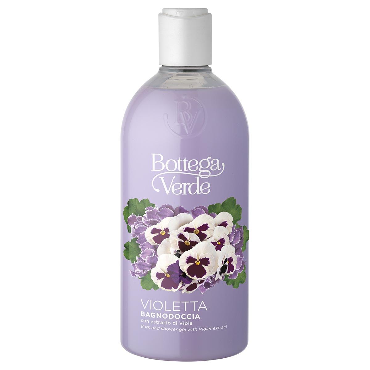 Gel de dus cu extract de violete - Violetta, 400 ML