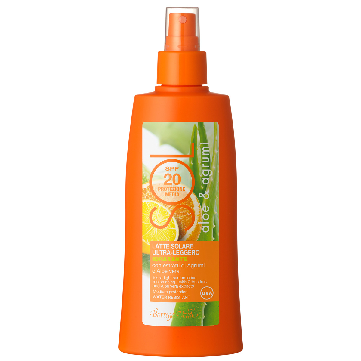 Lapte hidratant cu extract de citrice si aloe vera - waterproof - Sol, 200 ML