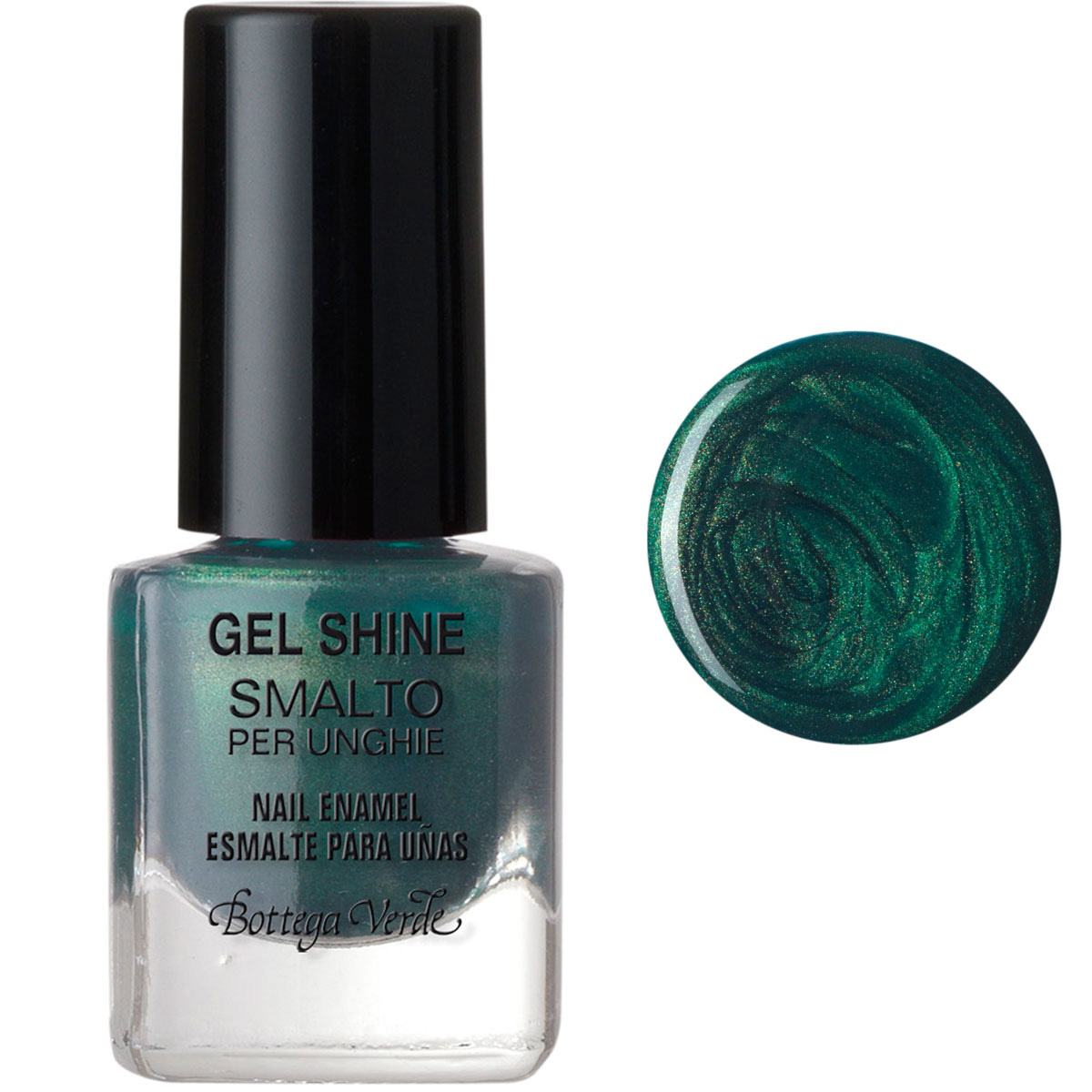 Lac de unghii, smarald - Gel Shine, 5 ML