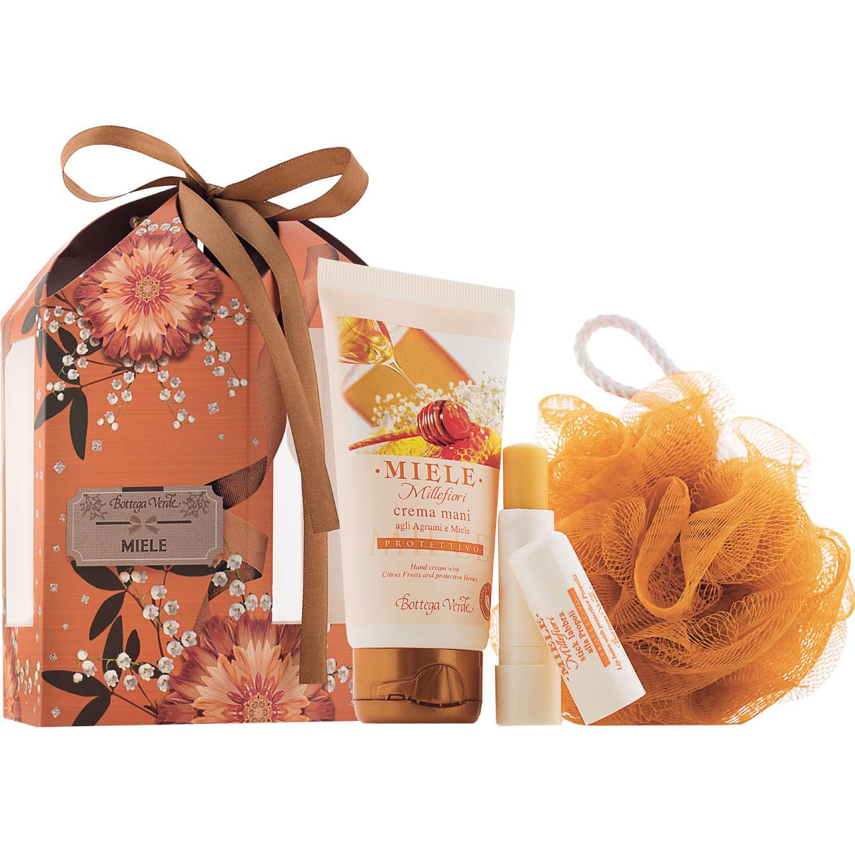 Set cadou - Miere - Crema de maini si balsam de buze cu miere - Miele, 5 ML, 65 ML