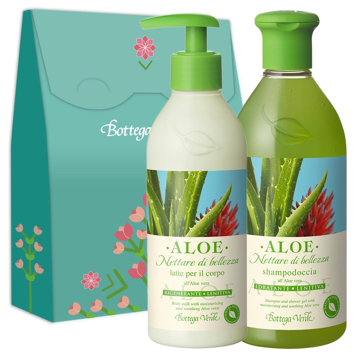 Set cadou - Aloe - Gel de dus si lapte de corp cu extract de Aloe Vera
