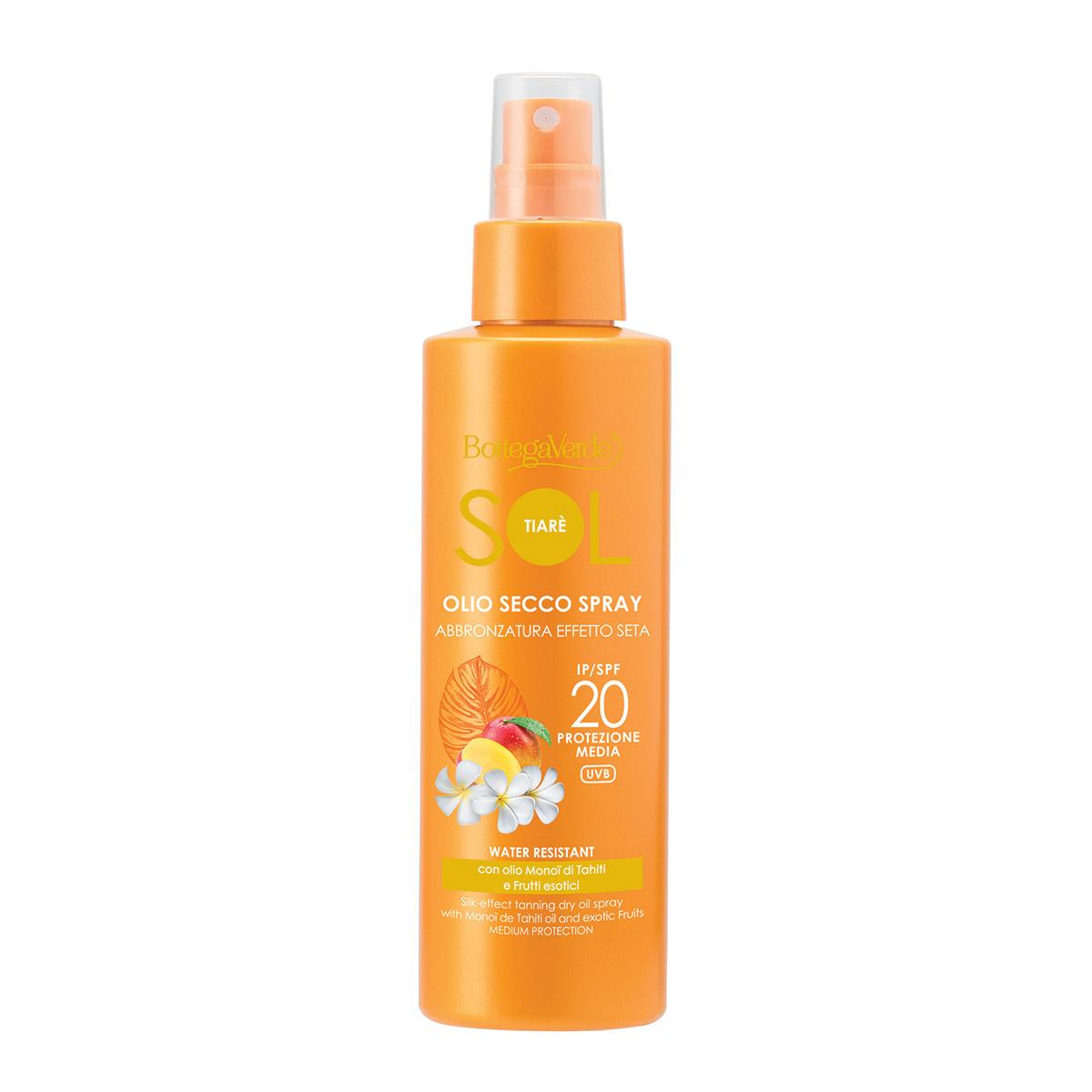 Spray protectie solara, rezistent la apa, cu ulei de Monoi din Tahiti, SPF 20 imagine
