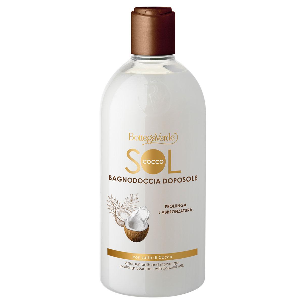 Gel de dus dupa expunerea la soare cu lapte de cocos - SOL Cocco, 400 ML