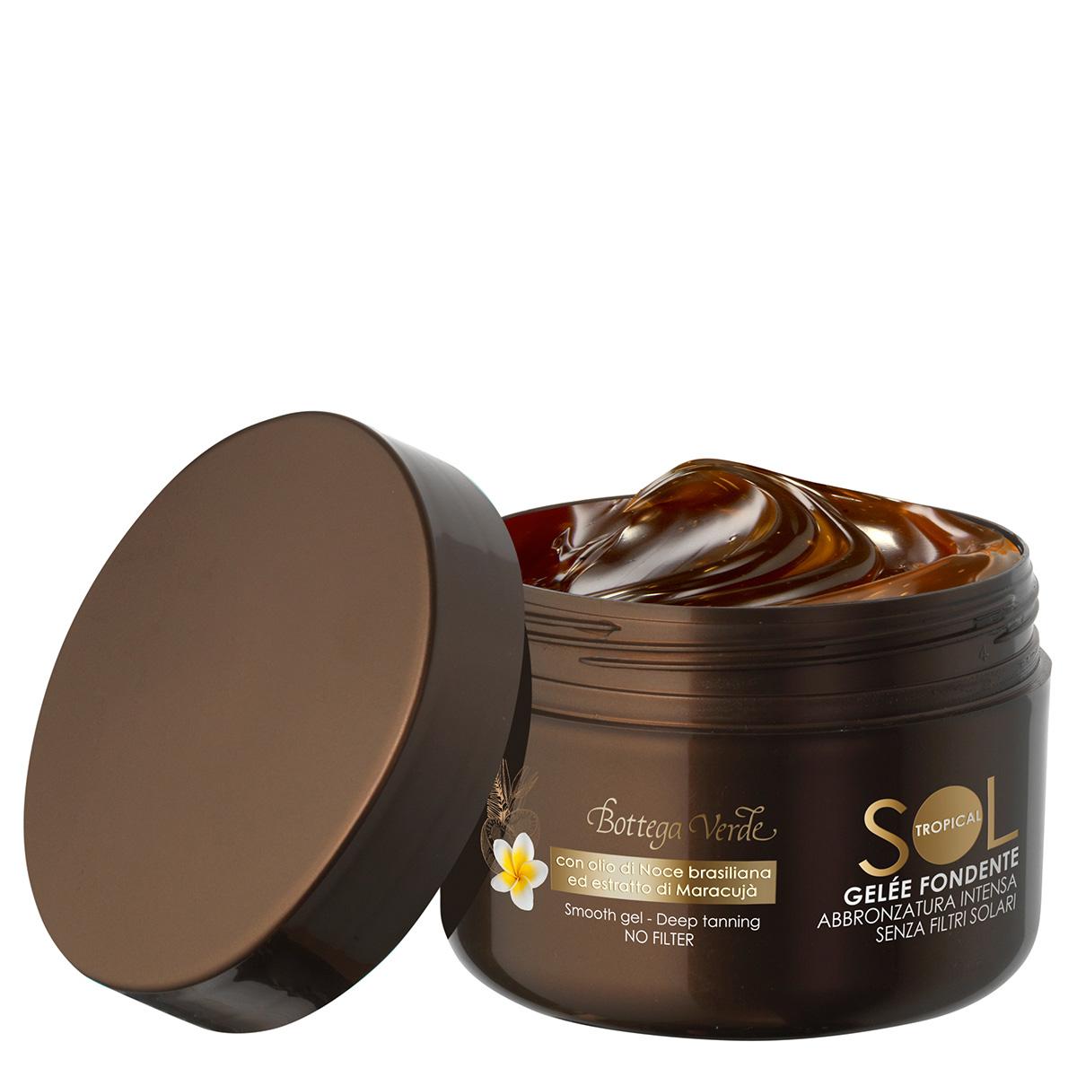 Protectie solara - Crema-gel pentru un bronz intens, fara protectie solara, cu ulei de nuci de Brazilia si extract de maracuja