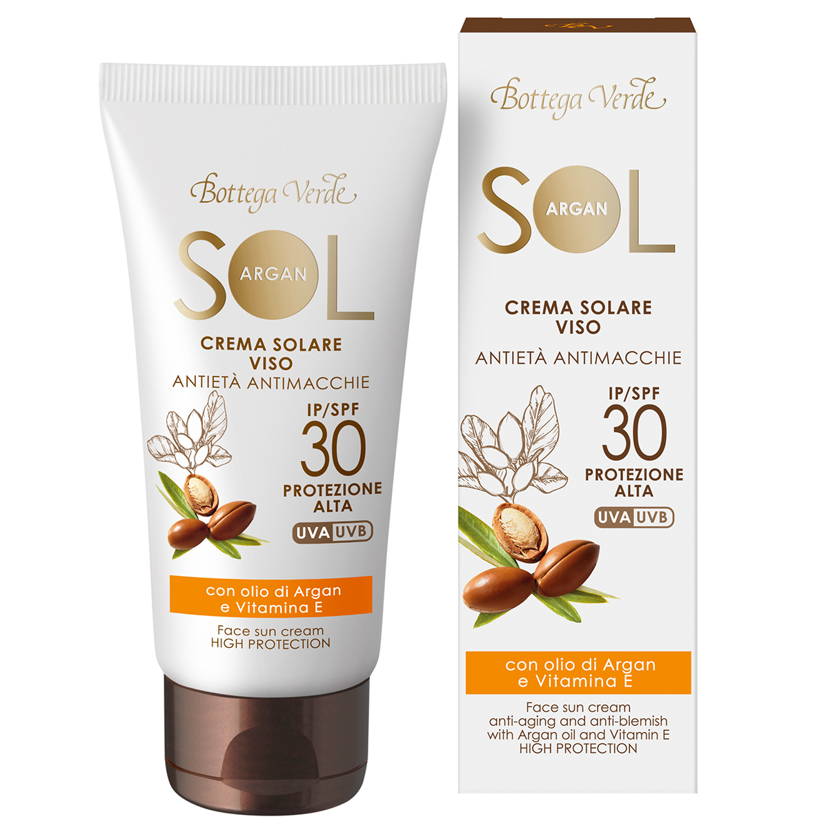 Protectie Solara - Crema De Fata Pentru Plaja Cu Efect Anti-imbatranire  Anti-pata - Cu Ulei De Argan Si Vitamina E - Spf30