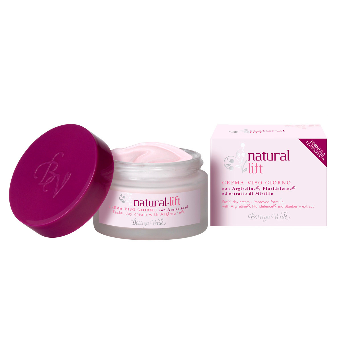 Lifting natural - Crema de fata pentru zi cu Argireline®, Pluridefence® si extract de coacaze