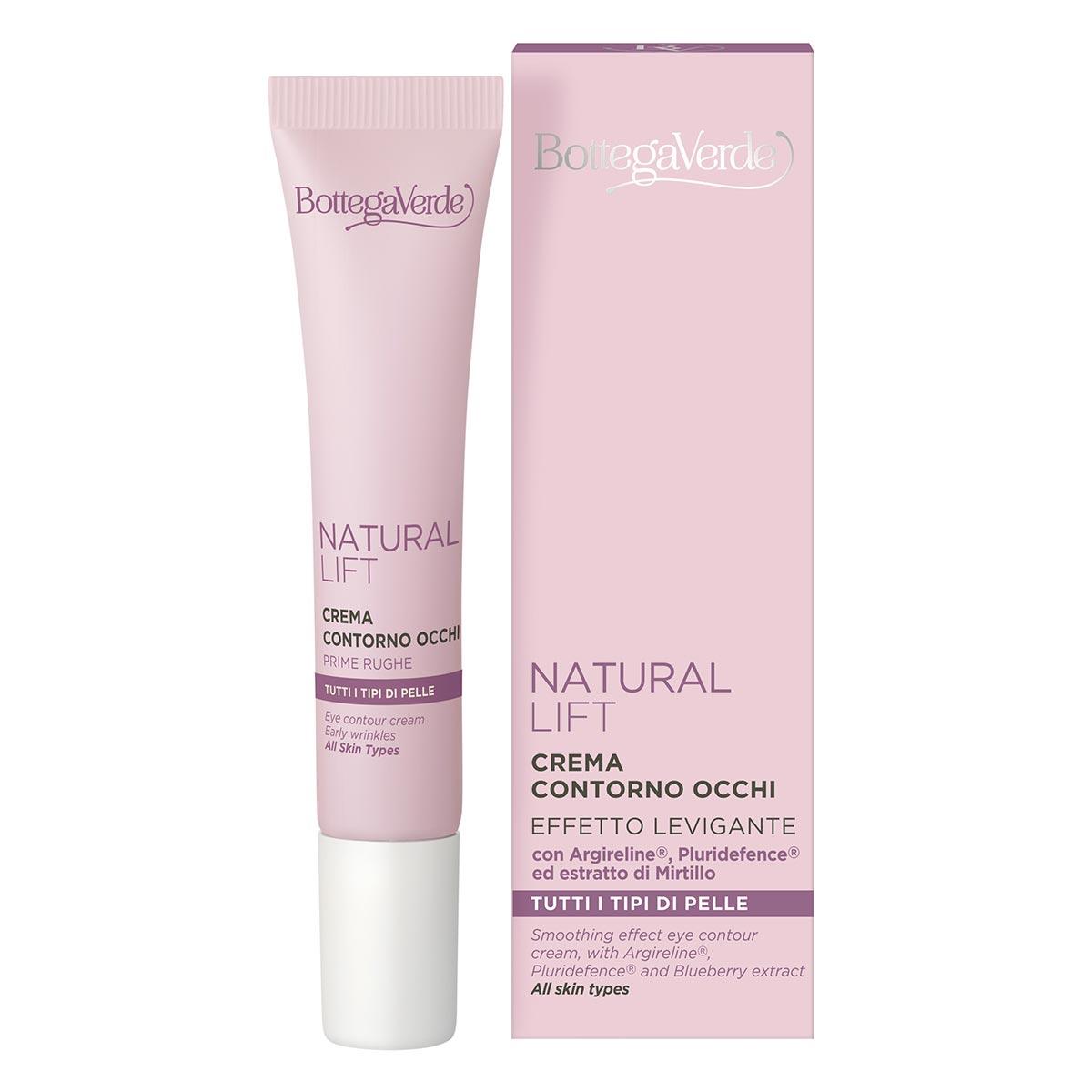 Crema pentru zona din jurul ochilor cu Argireline si extract de afine - Natural Lift, 15 ML