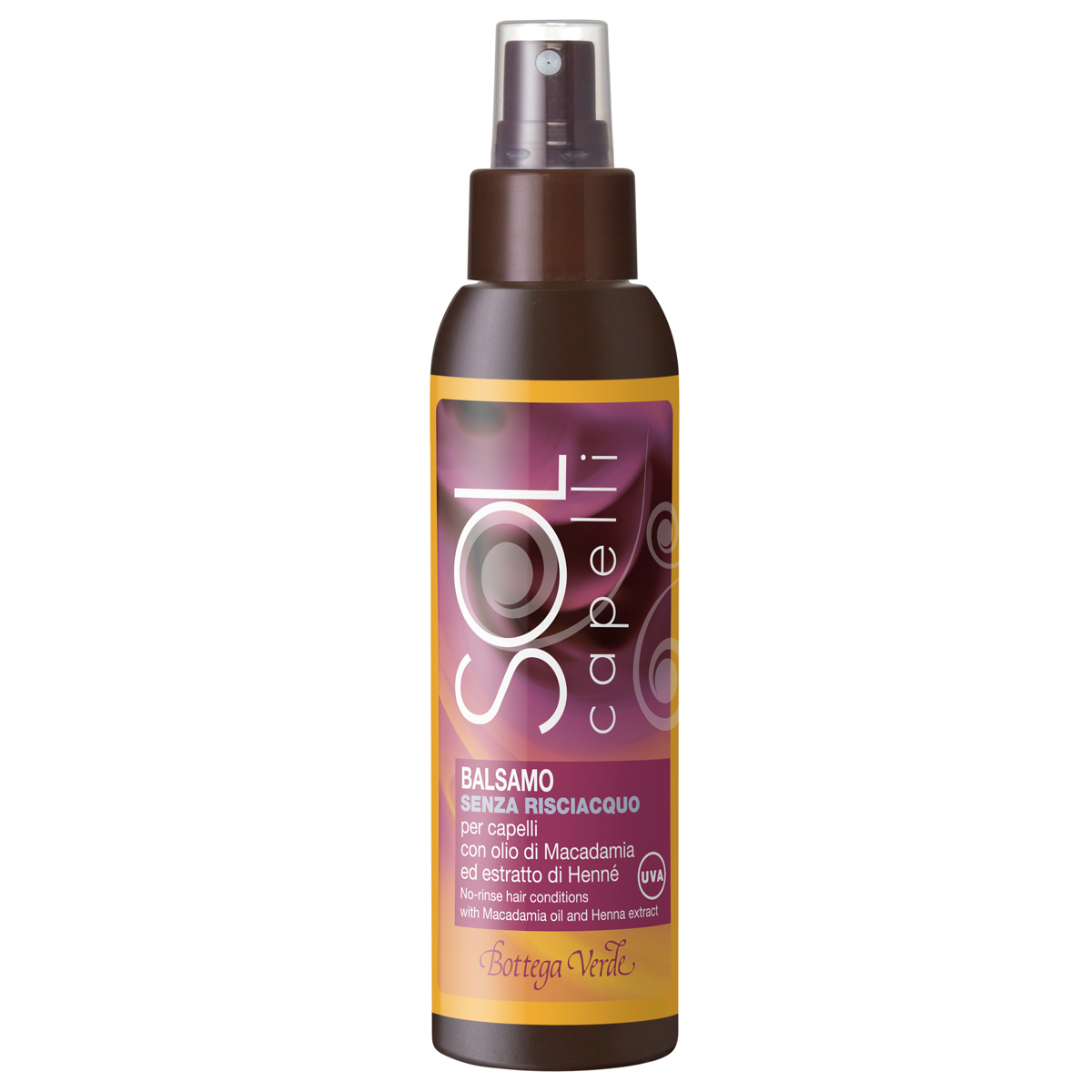 Protectie Solara - Balsam Pentru Par  Fara Clatire  Cu Ulei De Macadamia Si Extract De Henna  Filtru Uv