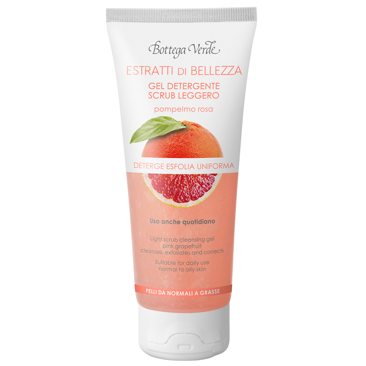 Extracte De Frumusete - Gel De Curatare  Exfoliere Delicata - Grapefruit Roz - Ten Normal Si Gras