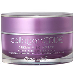 CollagenCODE - Crema de fata de noapte, actiune antirid avansata, cu Colagen vegetal si Elastindefence™ hidratanta