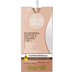 Color Brio - Masca iluminatoare 3 in 1 cu casmir si ulei de argan   - platina