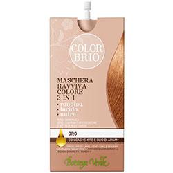 Color Brio - Masca iluminatoare 3 in 1 cu casmir si ulei de argan   - auriu