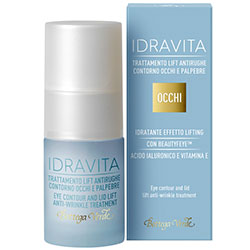 IDRAVITA - Tratament antirid pentru zona din jurul ochilor si a pleoapelor hidratant, efect lifting cu Beautyfeye ™, Acid hialuronic si Vitamina E