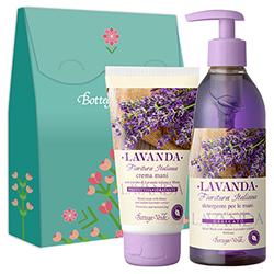 Set cadou - Crema de maini si sapun lichid cu extract de lavanda italiana  (75 ML + 250 ML)