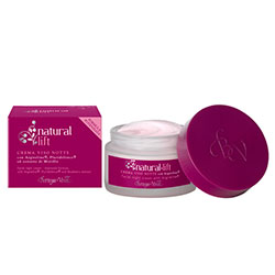 Lifting natural - Crema de fata pentru noapte cu Argireline®, Pluridefence® si extract de coacaze   (50 ML)