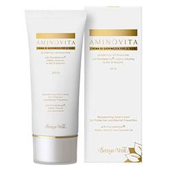 Aminovita - Crema pentru maini, protectoare, anti - pete, cu Pluridefence®, Alpha arbutina si ulei de susan - SPF15