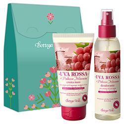 Set crema de maini si parfum deodorant cu extract de struguri rosii - Uva Rossa  (75 ML + 125 ML)