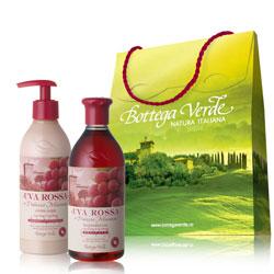 Pachet Special Valentine's - Gel de dus si crema de corp cu extract de struguri rosii  (400 ML + 250 ML)