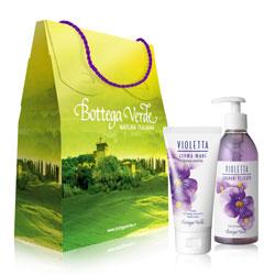 Set cadou - Crema de maini si sapun lichid cu parfum de violete  (75 ML + 250 ML)