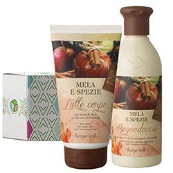 Set ingrijire corp cu aroma de mere si scortisoara - Mela e Spezie, 250 ML + 150 ML