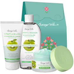 Set ingrijire ten cu mar si kiwi - Estratti di Bellezza  (50 ML + 200 ML + 75 ML)