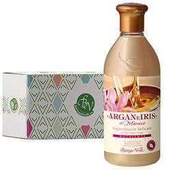 Gel de dus delicat cu ulei de argan si lapte de Iris in cutie cadou