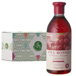 Gel de dus delicat cu extract de struguri rosii in cutie cadou