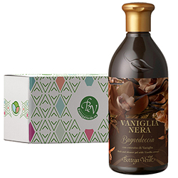 Gel de dus cu extract de vanilie neagra in cutie cadou