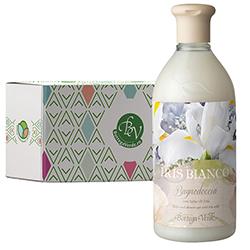 Gel de dus cu lapte de iris alb in cutie cadou