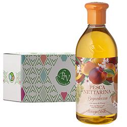 Gel de dus cu aroma de nectarine in cutie cadou