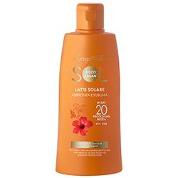 Protectie Solara - Lapte de corp pentru plaja, rezistent la apa, cu ulei de Hibiscus si Argan - SPF 20  (200 ML)