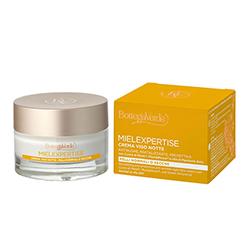 Crema antirid si antioxidanta, de noapte, pentru tenul matur, cu miere si Pluridefence - Mielexpertise, 50 ML