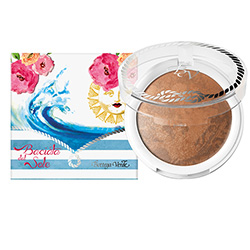 Pudra compacta bronzanta, cu extract de hibiscus si ulei de migdale dulci, bej mediu - Riviera Mediterranea  (7.5 G)