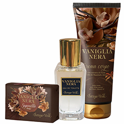 Set cu extract de vanilie neagra - Vaniglia Nera, 30 ML + 200 ML + 150 G