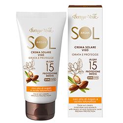 Protectie Solara - Crema de fata pentru plaja cu ulei de argan si Ialuron Plus, SPF 15  (50 ML)