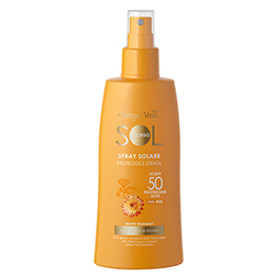 Protectie Solara - Crema spray pentru plaja, rezistenta la apa, cu extract de Helichrysum - SPF 50   (200 ML)