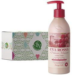 Crema de corp antioxidanta cu extract de struguri rosii  in cutie cadou