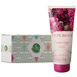 Crema de corp cu extract de piper roz in cutie cadou